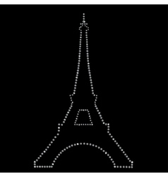 Eiffel tower Paris made up a lot of diamonds vector image