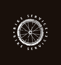 emblem for bicycle club vector image