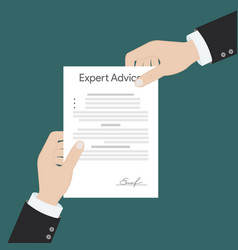Expert advice vector