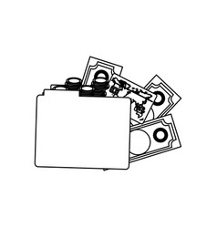 figure file with money icon vector image