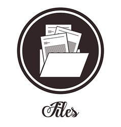 Files design vector image