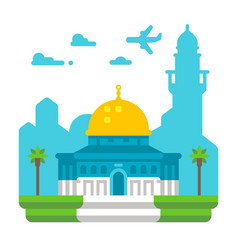 flat design dome of rock vector image