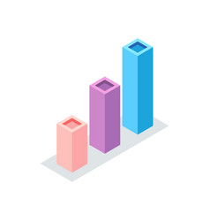 geometric rising chart square columns vector image