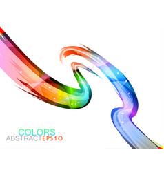 Glossy colors on a white vector