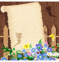greeting rustic paper vector image
