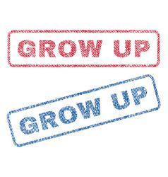 Grow up textile stamps vector
