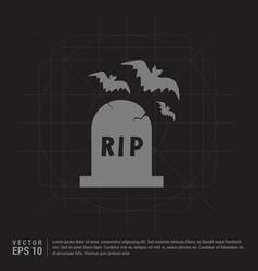 Halloween grave icon - black creative background vector