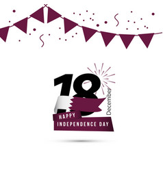 Happy qatar independence day template design vector