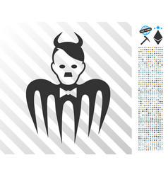 Hitler spectre devil flat icon with bonus vector