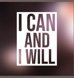 I can and i will successful quote with modern vector