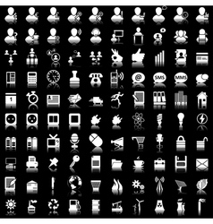 icon set 100 vector image