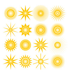 icons of the sun vector image vector image