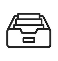inbox icon vector image