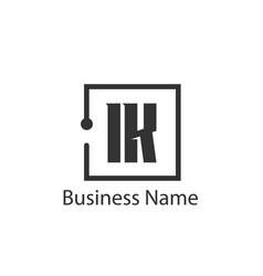 initial letter ik logo template design vector image