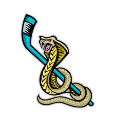 King cobra ice hockey sports mascot vector