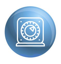 kitchen timer start icon outline style vector image