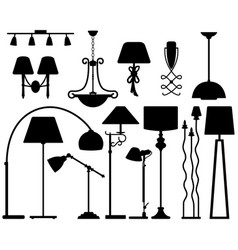 lamp design for floor ceiling wall a set lamp vector image
