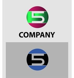 Logo number 5 design template vector