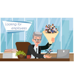 Looking for employees flat vector