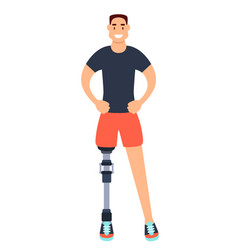 man with prosthetic leg vector image