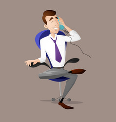 manager talking on the phone vector image