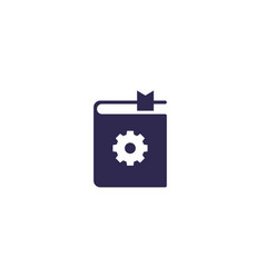 Manual user instructions icon vector