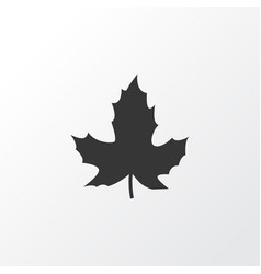 maple icon symbol premium quality isolated leaf vector image