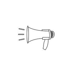 megaphone loudspeaker line icon loud-hailer vector image