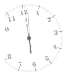 Midnight clockface vector