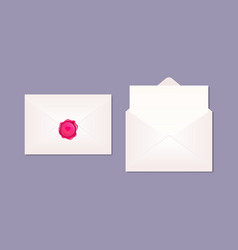 mockup realistic envelopes opened with blank vector image
