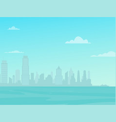 modern city skyline over sea city street vector image