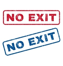 No Exit Rubber Stamps vector