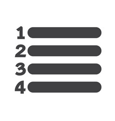 Number list icon sign vector
