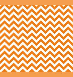 orange and white zig zag seamless pattern vector image