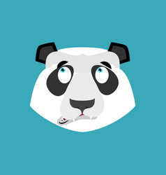 Panda surprised emoji chinese bear astonished vector