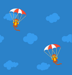 Pattern monkeys with parachute vector