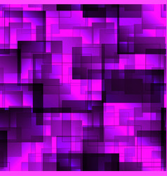 pattern of purple tiles and squares with shadow vector image