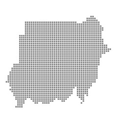 pixel map of sudan dotted map of sudan isolated vector image