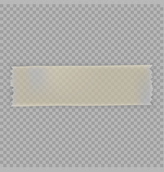 Realistic sticky tape with shadow vector