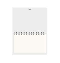 realistic wall calendar empty mock up vector image