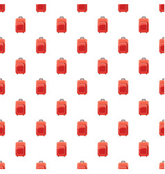 Red travel suitcase pattern vector