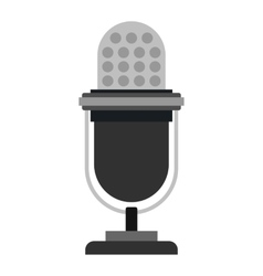 Retro microphone icon flat style vector image