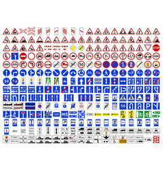 Road signs russian federation vector