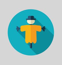 Scarecrow flat icon vector