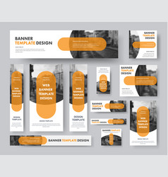 set horizontal vertical and square web banners vector image