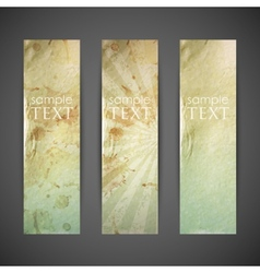 Set of vintage banners with grunge cardboard vector