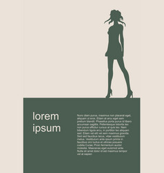 sexy woman silhouette modern brochure vector image