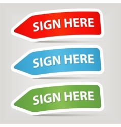 sign here vector image