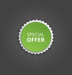 special offer round sticker color banner vector image