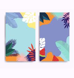 Summer sale banner template design for social vector